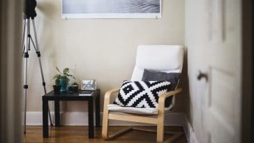 A room furnished with IKEA items